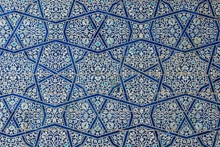 Sfondo piastrellato con ornamenti orientali Archivio Fotografico - 24013098
