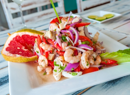 Mexican seafood ceviche photo