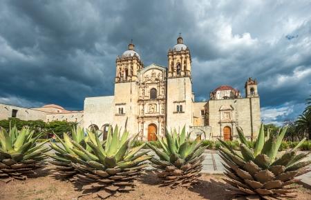 agave: Iglesia de Santo Domingo de Guzmán en Oaxaca, México