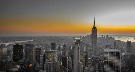 panorama de Manhattan, New York Banque d'images