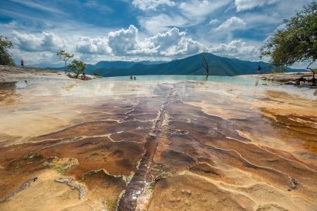 Hierve el Agua, natürlichen Felsformationen im mexikanischen Bundesstaat Oaxaca Standard-Bild - 24879017