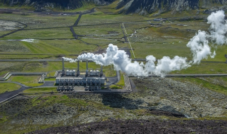 Nesjavellir geothermal power station, Iceland photo