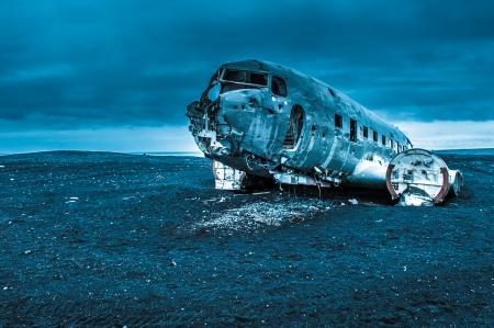 Dakota plane wreckage, Iceland Stock Photo