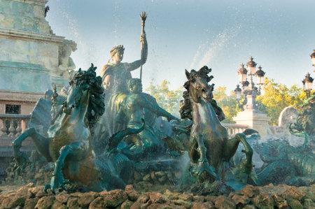 BORDEAUX, FRANCE - June, 21, 2009: Girondins monument and fountain, Bordeaux, France.