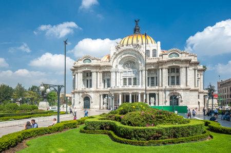 MEXICO CITY, MEXICO - October, 30, 2013: Palacio de Bellas Artes in Mexico city, the most important cultural center in the city.
