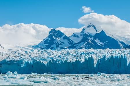 moreno glacier: Blue ice of Perito Moreno Glacier, Argentina Stock Photo