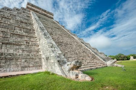 El Castillo or Temple of Kukulkan pyramid, Chichen Itza, Yucatan, Mexico photo