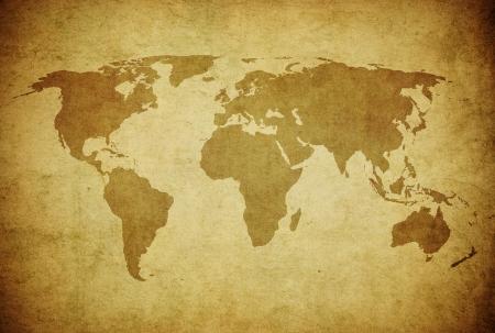 グランジの世界地図 写真素材