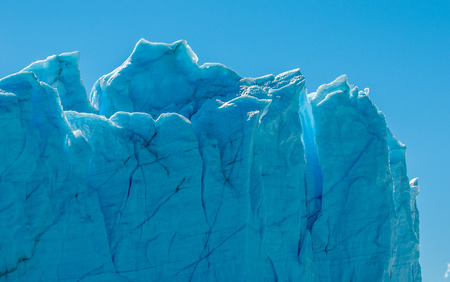 Blue ice of Perito Moreno Glacier, Argentina photo
