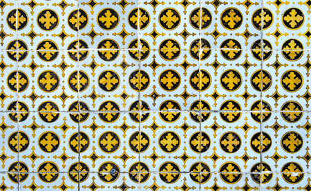 Vintage azulejos, traditional Portuguese tiles photo