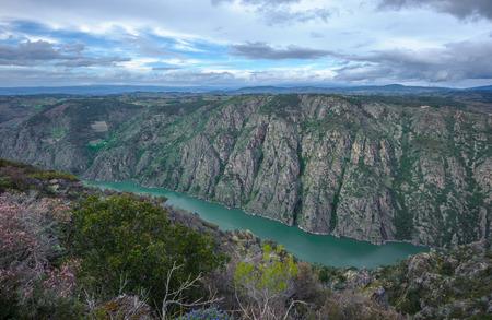 Canyon de Rio Sil, en Galice, Espagne Banque d'images