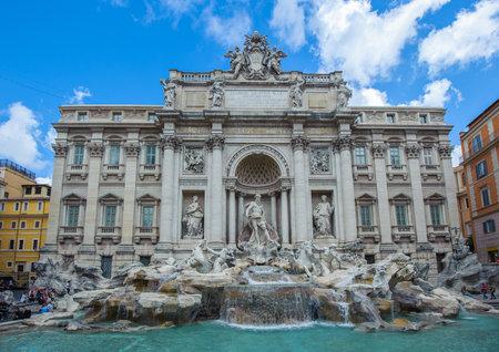 fontana: Trevi Fountain, Rome, Italy Editorial