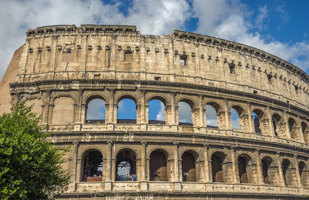 Colosseum (Coliseum), major tourist attraction in Rome, Italy