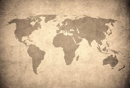 grunge map of the world Standard-Bild