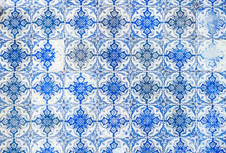 Vintage azulejos, traditional Portuguese tiles photo