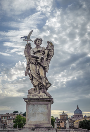 sudarium: Sculpture of angel with Veronica's Veil, Sant'Angelo bridge, Rome