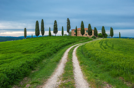 tuscan house: image of typical tuscan landscape Stock Photo