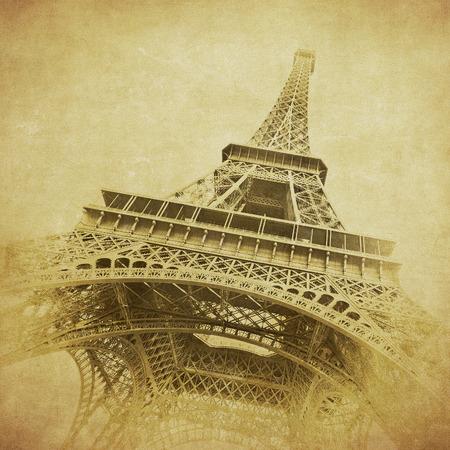 Vintage image of Eiffel tower, Paris, France photo