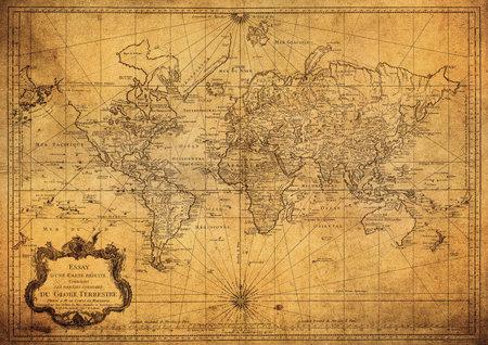 mapa del vintage del mundo 1778 Editorial