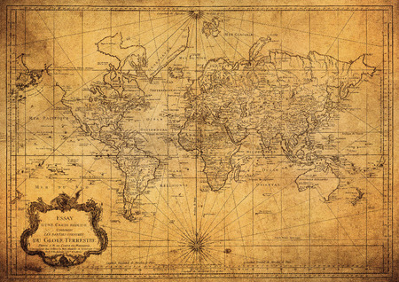 wall maps: vintage map of the world 1778