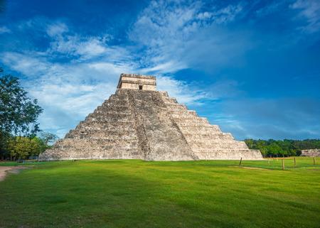 chichen itza: El Castillo or Temple of Kukulkan pyramid, Chichen Itza, Yucatan, Mexico Stock Photo