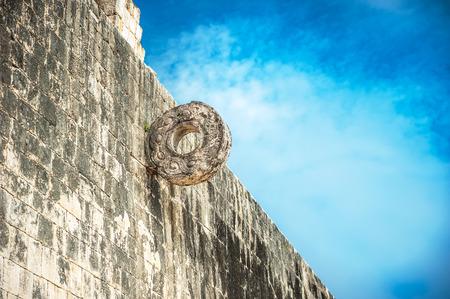 ballgame: Stone ring for Mayan ballgame, juego de pelota