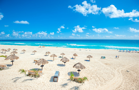 Cancun beach panorama, Mexico