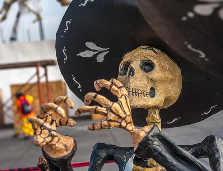 Dead mariachi, Dia de los muertos, Day of the dead in Mexico Stock Photo