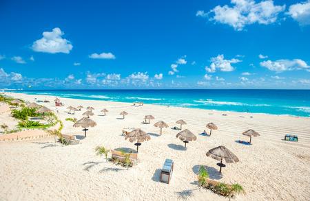 Cancun beach panorama, Mexico photo