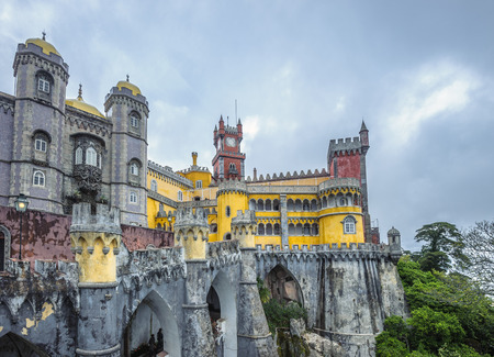 pena: Pena palace in Sintra, Portugal