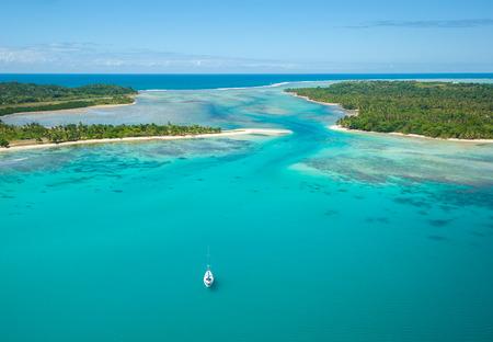Luftaufnahme der Insel Sainte Marie, Madagaskar