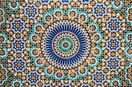 モロッコ タイルの背景 写真素材
