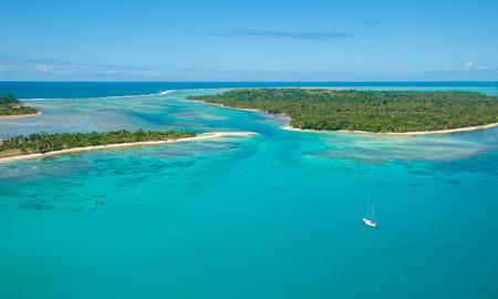 sea view: Aerial view of Sainte Marie island, Madagascar