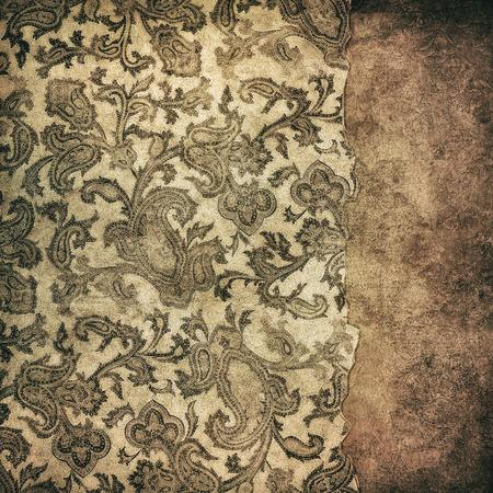 grunge wallpaper: highly detailed image of grunge vintage wallpaper Stock Photo