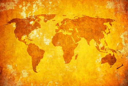 grunge map of the world photo