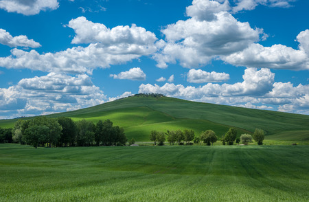 val dorcia: image of typical tuscan landscape Stock Photo