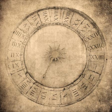 Vintage image of Venetian clock photo