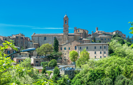 montepulciano: View of Montepulciano, Tuscany, Italy Stock Photo
