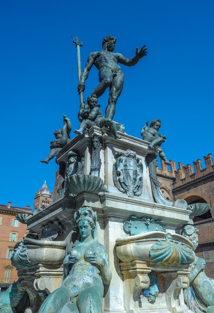 bologna: Fountain of Neptune in Bologna, Italy