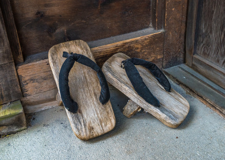 slipper: Geta, traditional japanese footwear Stock Photo