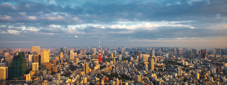 Tokyo aerial panoramic view Stock Photo