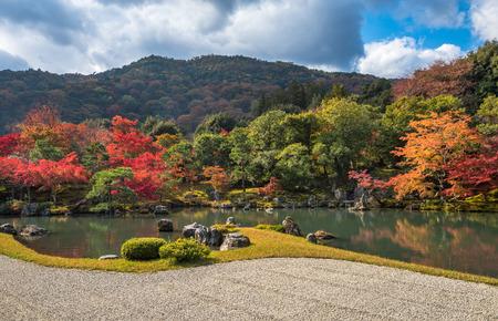 momiji: Tenryu-ji garden in fall, Arashiyama, Kyoto, Japan