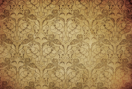 detailed image: highly detailed image of grunge vintage wallpaper Stock Photo