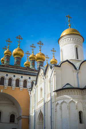 deposition: Church of the Deposition of the Robe, Moscow Kremlin, Rusiia Stock Photo