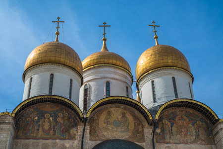 assumption: The Cathedral of the Dormition in Moscow Kremlin, Russia