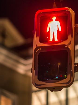 cross road: Red traffic light, for pedestrians, Japan