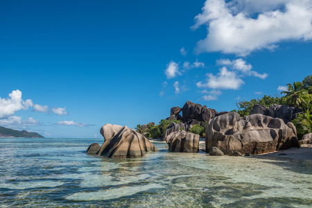 argent: Tropical island beach, Source d'argent, La Digue, Seychelles