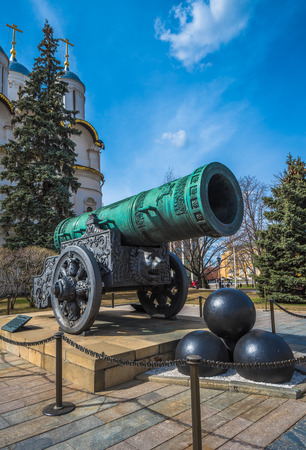 Tsar or King Cannon in Moscow Kremlin, Russia