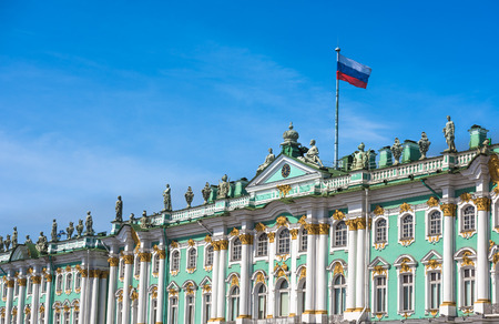 hermitage: Winter Palace and Hermitage museum in Saint Petersburg, Russia