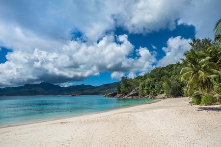 soleil: Anse Soleil tropical beach, Mahe island, Seychelles Stock Photo